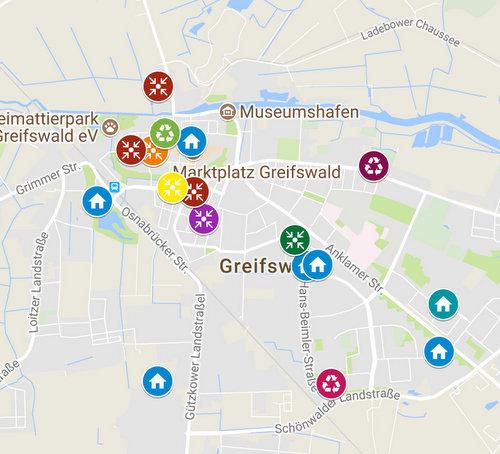 Greifswald Karte.Greifswald übersicht Karte Stadt Zum Leben Mondamo Blog